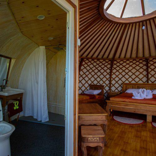 Deluxe ger bathroom